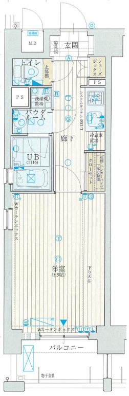 アスヴェル心斎橋東Ⅱ物件画像3
